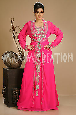 Crystal Luxe Kaftan Sequins Hand Embroidered Genie Fancy Dress Costume 4656