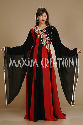 Moroccan Takchita African Caftan Hand Embroidered Arab Princess Maxi Gown  3063