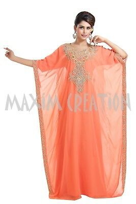Haute Coutre Takchita Sequins Caftan Customized Wedding Gown For Ladies 6415