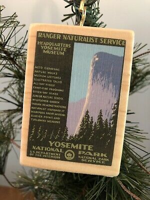 YOSEMITE + SEQUOIA National Parks WPA Style Poster Vintage 2 sided Ornament