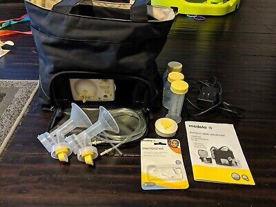 Medela Pump-In-Style Advanced Breast pump + Tote Bag Power Adapter & Accessories
