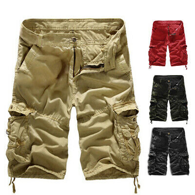 Cotton Shorts Camouflage Loose Cargo Pants Beach Hot Army Combat Men's Clothing