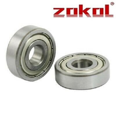 PAIR OF PREMIUM TOP QUALITY R6-ZZ BEARINGS. FREE 1st CLASS POST SAME DAY R6-2Z