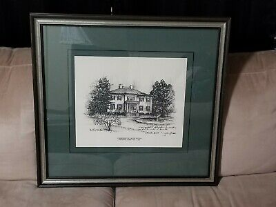 Barclay Sheaks Framed Print Building Pencil Commemorative LE Inaugural 1982