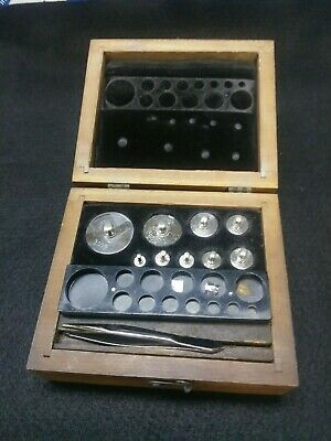 CHROME CALIBRATION WEIGHT Set 1 - 100 GRAM IN WOODEN BOX