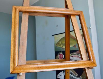 """Suberb Large Antique Victorian Golden Oak Picture Frame 23""""X19"""" Rebate 'S' Ogee"""
