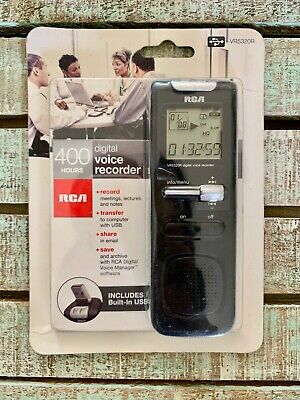 RCA DIGITAL VOICE Recorder VR5320R 1GB Built in USB 400 Hour