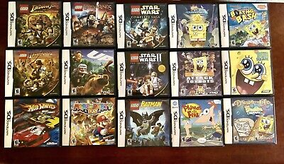 Lot of 15 Nintendo DS Lite DSi Games Mario Party LEGO Star Wars Indiana Jones