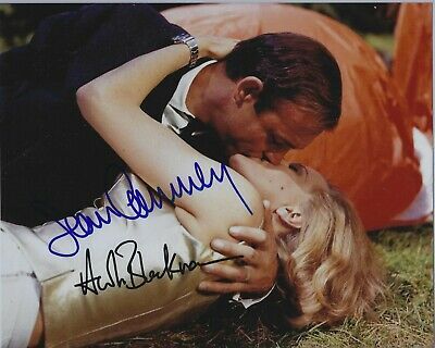 Sean Connery & Honor Blackman  (James Bond 007) Autographed 8X10 Color Photo