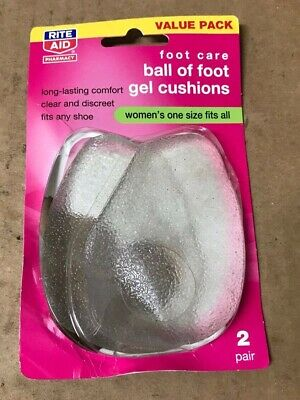 Rite Aid Ball of Foot Gel Cushions Foot Care Women One Size Fits All DAMAGED BOX