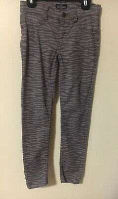 Children's Place Jeggings Girls Size 8 Adjustable Waist Stretchy Zebra Design