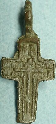 17Th - 18Th C. Imperial Russian Bronze Cross Pendant# Bcp-1