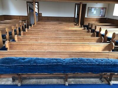 Church Pews, 1850's, red pine, purchaser to remove and uplift.