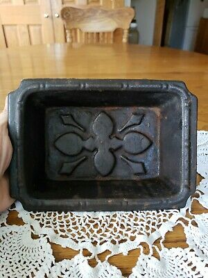 Antique Cast Iron Umbrella Coat Stand Hall Tree Drip Pan Tray 8.25×5.75×2""