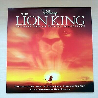 ELTON JOHN - THE LION KING OST Rare Black LP 2018 EU Reissue NEW & UNPLAYED