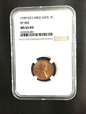 1970 S/S Large Date Lincoln Cent MS65