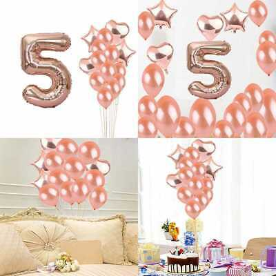Sweet 5Th Birthday Decorations Party Supplies ROSE GOLD Number 5 Balloons Foil M