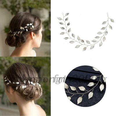 Bridal Wedding Hair Vine Leaf Headband Tiara Party Prom Evening Hair Band