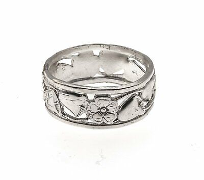 "Art Deco Sterling Silver ""Forget Me Knot"" & Wedding Bells Band"