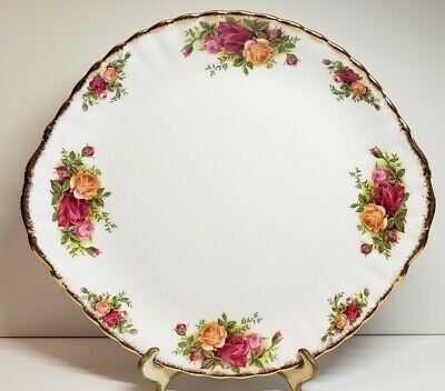 Vintage 1962 Royal Albert Old Country Roses Display Handled Serving Cake Plate