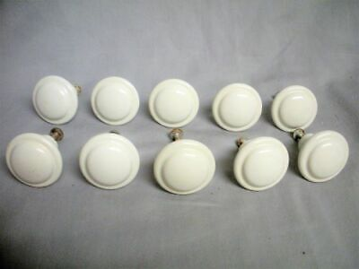 10 Porcelain Ceramic Cabinet Drawer Door Pull Knob Ironstone Hardware Set 1 1/2""