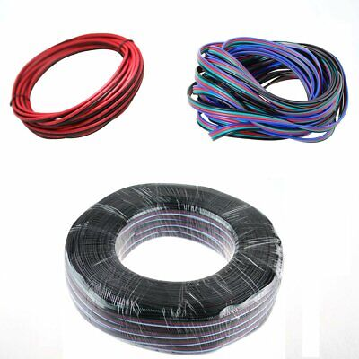 2Pin 4Pin 5Pin Flexible Extension Wire Cable for 3528 5050 RGB LED Strip 5-100M