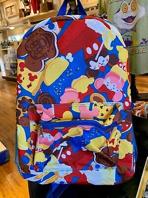 Disney Parks Treats Snacks Backpack Mickey Pizza Ice Cream Dole Whip Cookies NEW
