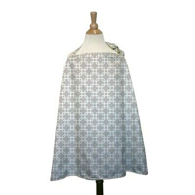 The Peanut Shell Nursing Cover Grey Geo