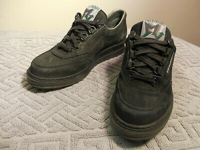 Mib Mephisto Rush Mamouth Black Leather Sneakers Shoes
