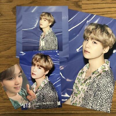 BTS Lights/Boy With Luv SUGA Photocard Set Official JAPAN Fan club Limited F/S