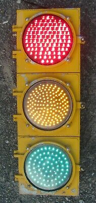 "8"" Aluminum 3 section LED Traffic Signal Light No Visors (C)"