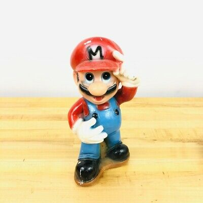 Super Mario Brothers Piggy Bank • Hand Painted • Vintage Nintendo Game Figure