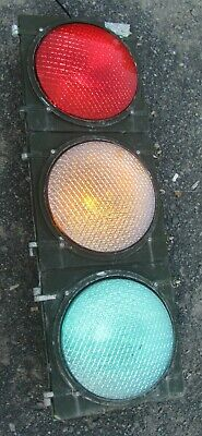 "12"" Aluminum 3 section LED Traffic Signal Light No Visors (A)"