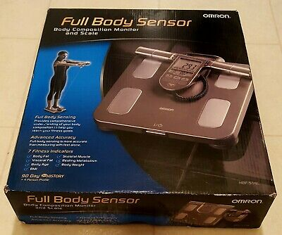 NEW Omron HBF514 Full Body Sensor Body Composition Monitor Scale FREE SHIPPING!