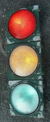 "12"" Aluminum 3 section LED Traffic Signal Light No Visors (C)"