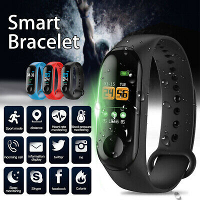 Blood Pressure Heart Rate Monitor Bracelet Smart Watch Wristband For Android iOS
