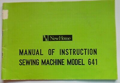 Original Janome New Home 641 Sewing Machine Instruction Manual Booklet