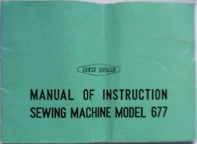 Original Janome New Home 677 Sewing Machine Instruction Manual Booklet