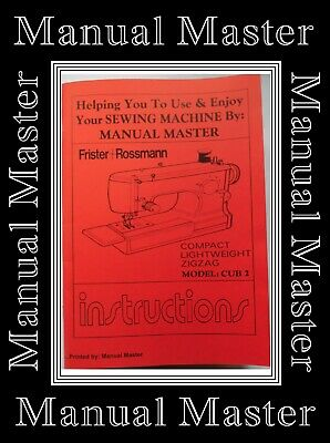 Frister Rossmann Cub 2 ZigZag sewing machine instruction Manual Booklet
