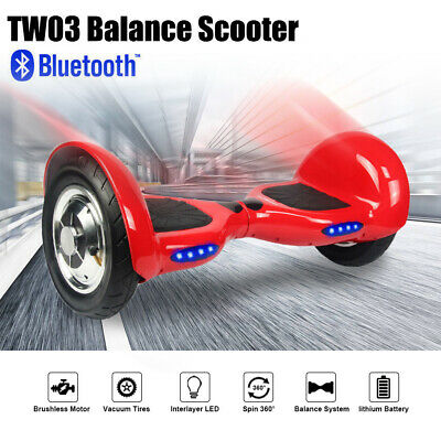 10'' Bluetooth Hover Board Smart Balancing Monopattino Elettrico Pedana Scooter