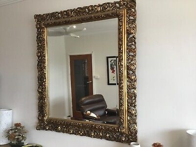 Antique gilt carved mirror