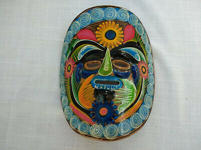 Ceramic Painted Decorative Mask Hand Crafted Home Decor