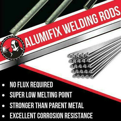 New Super Melt Welding Rods Electrodes Silver Alumifix Flux Cored Low Temp.
