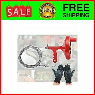 Cleaning Clog,Plumbing Manual Spin Drain Cleaner Snake Pipe Auger Spring Cable