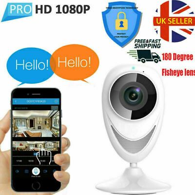 720p HD WIFI Fisheye Home IP Camera Security Video Baby Monitor CCTV NightVision