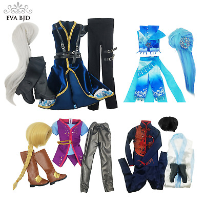 Toy Clothes Dress Wig Shoes Set for 1/3 BJD SD Doll Male EVA BJD Dolls' Clothing