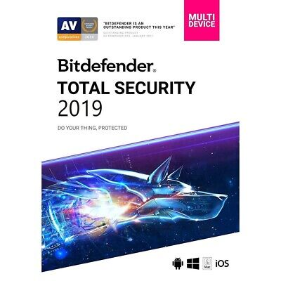 Bitdefender Total Security 2020 - 5 Devices | 6 Months CANADA & USA