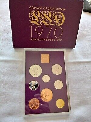 12 x Royal Mint Coinage of Great Britain & Northern Ireland Proof Sets 1970-1981