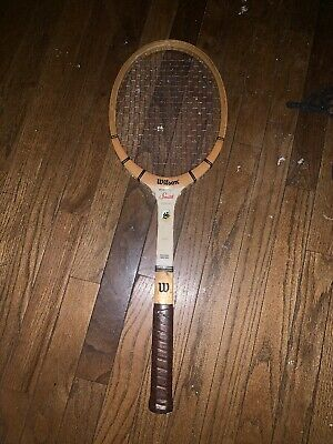 Vintage wood Wilson Stan Smith Autograph  tennis racket 4 3/8 grip