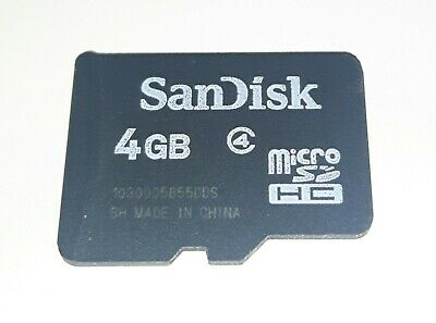 Genuine SanDisk MicroSD - 4GB Memory Card SDHC class 4 - used SD CARD for PHONES